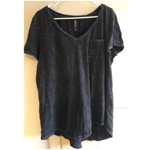 3X Torrid Acid Wash Gray Relaxed Tee
